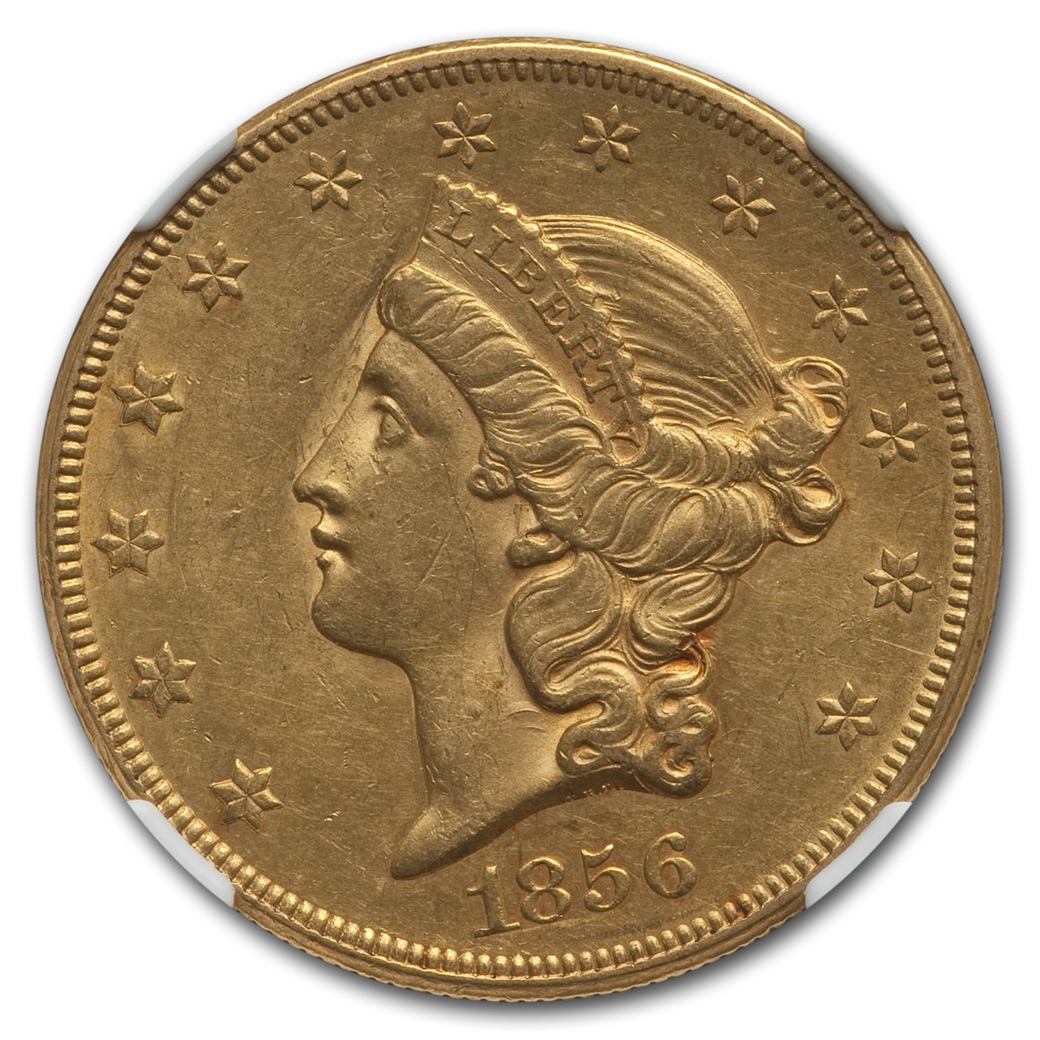 1856-S $20 Liberty Gold Double Eagle AU-55 NGC