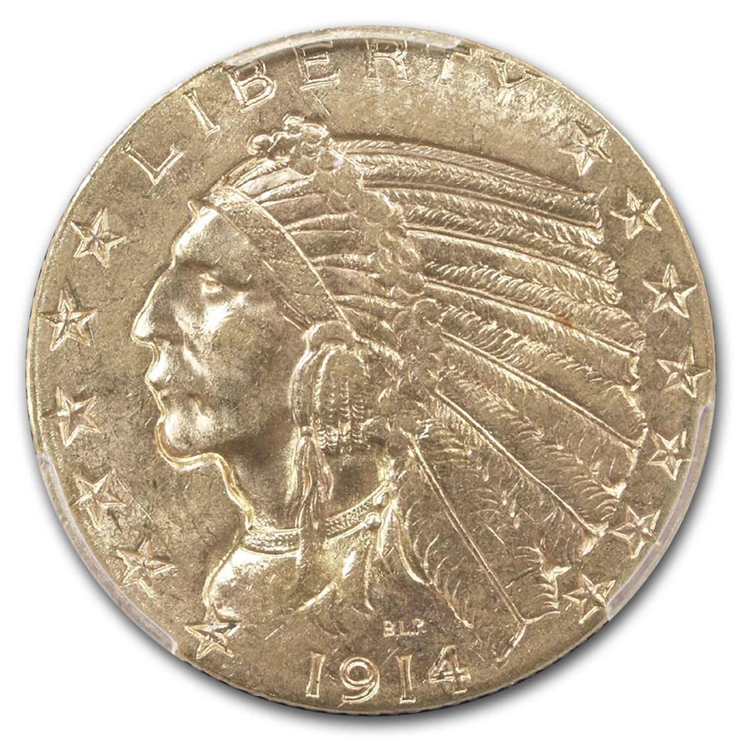 1914-S $5 Indian Gold Half Eagle MS-62 PCGS