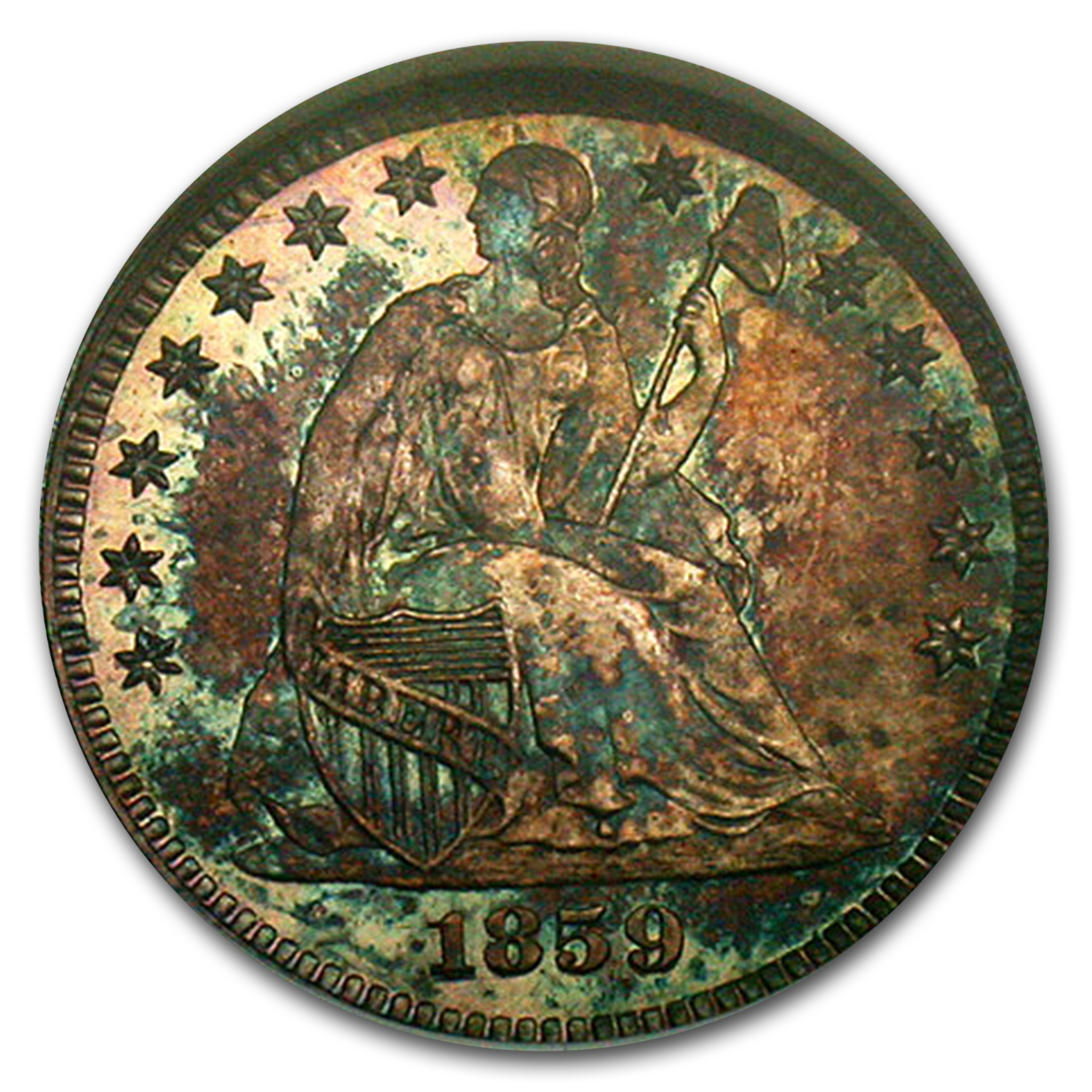 1859 Liberty Seated Half Dime PF-65 NGC