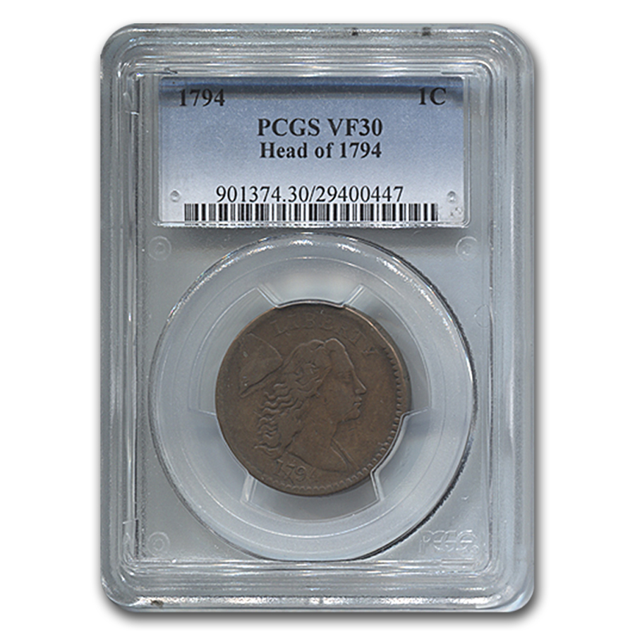 1794 Large Cent Head of 1794 VF-30 PCGS