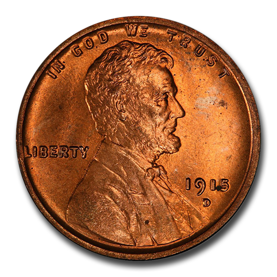 1915-D Lincoln Cent MS-66 PCGS (Red)