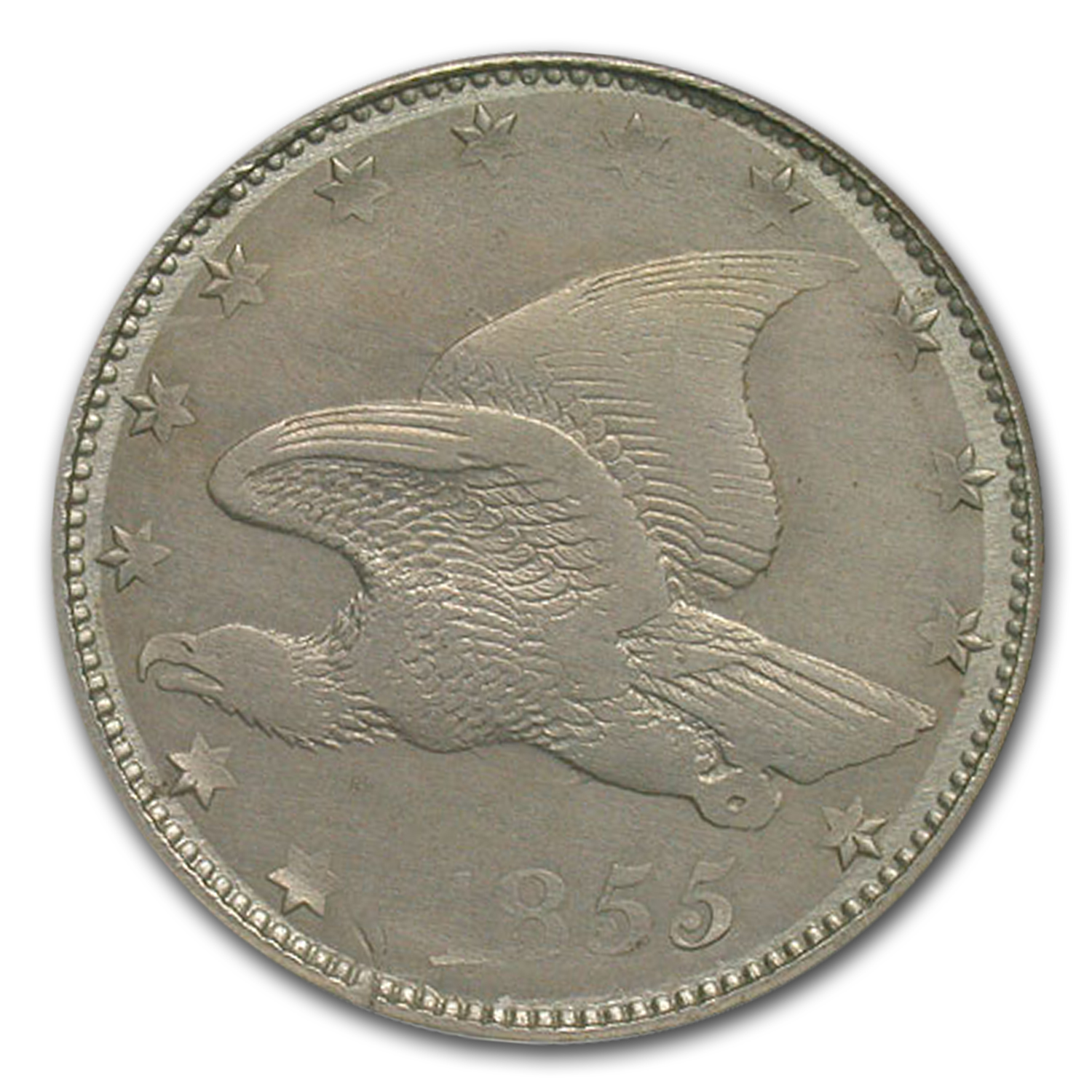 1855 Flying Eagle Cent Pattern MS-62 NGC (Judd-171)