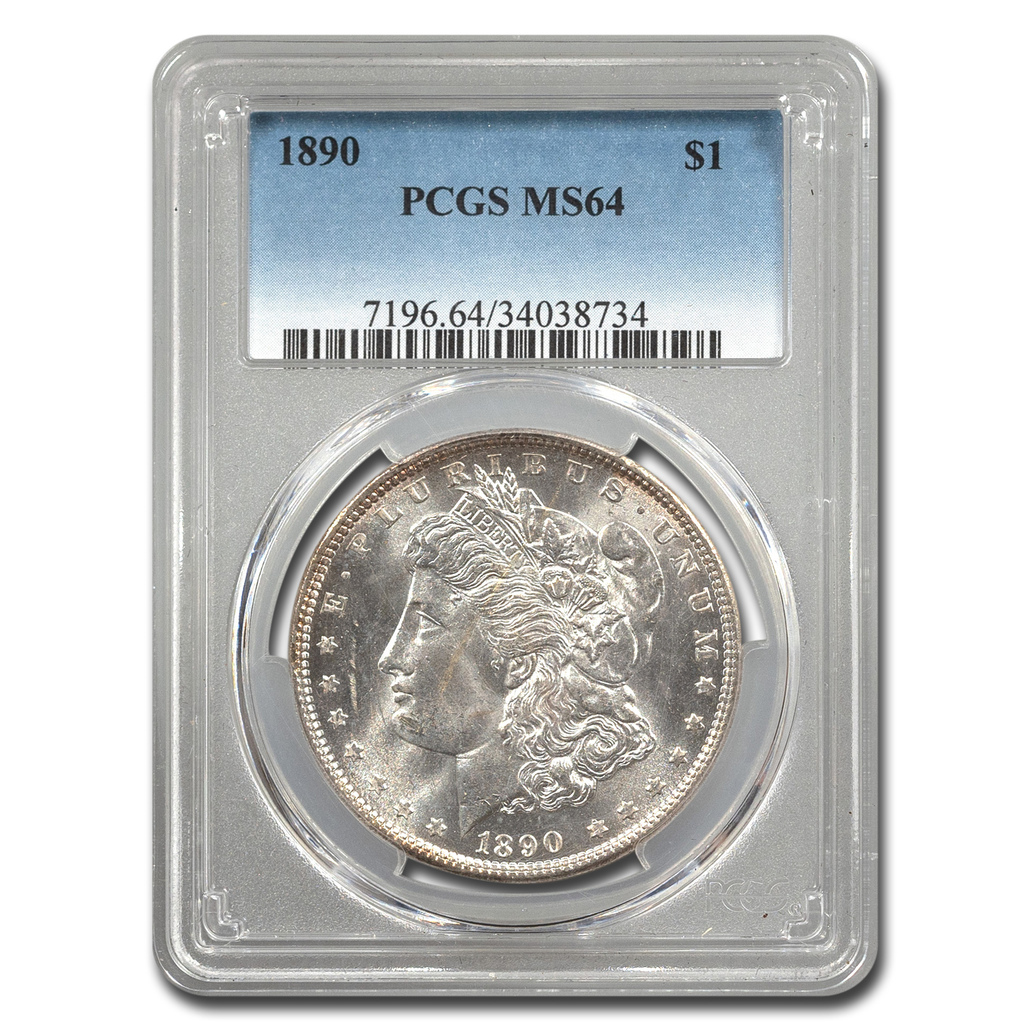 1890 Morgan Dollar MS-64 PCGS