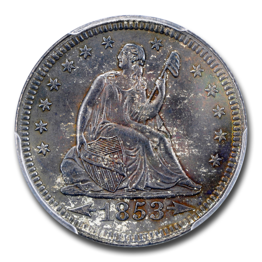 1853 Liberty Seated Quarter MS-65 PCGS (w/Arrows and Rays)