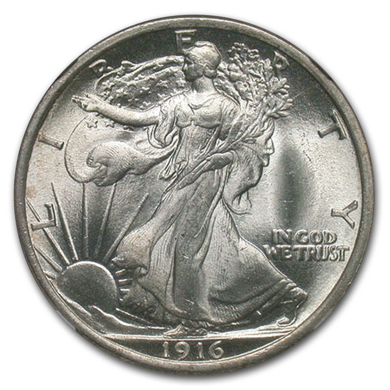 1916 Walking Liberty Half Dollar MS-67 NGC