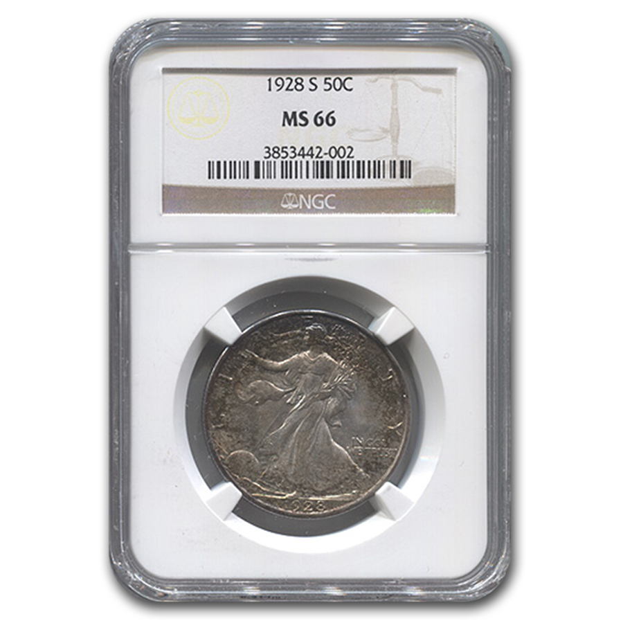 1928-S Walking Liberty Half Dollar MS-66 NGC