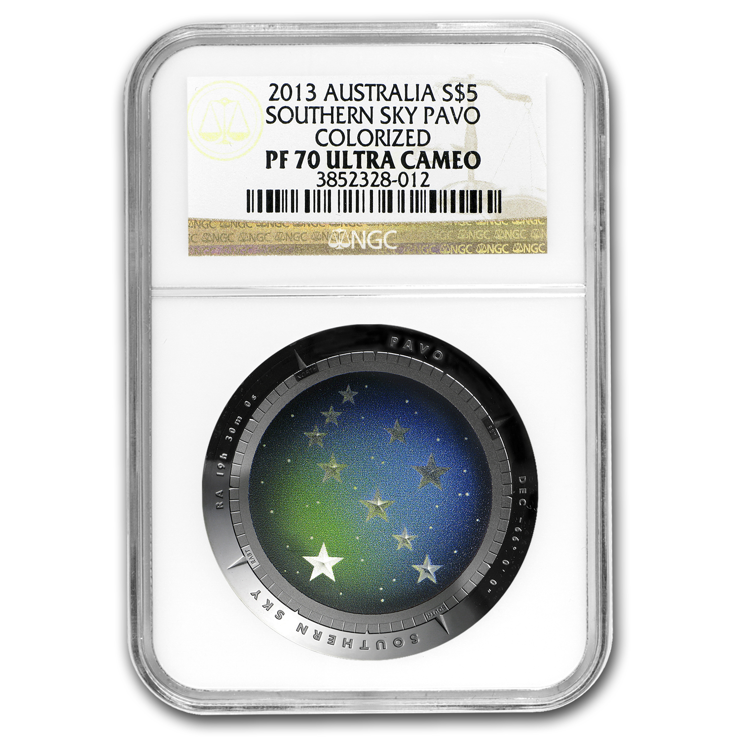 2012-2014 Australia Silver $5 Color Domed Southern Sky Set PF-70