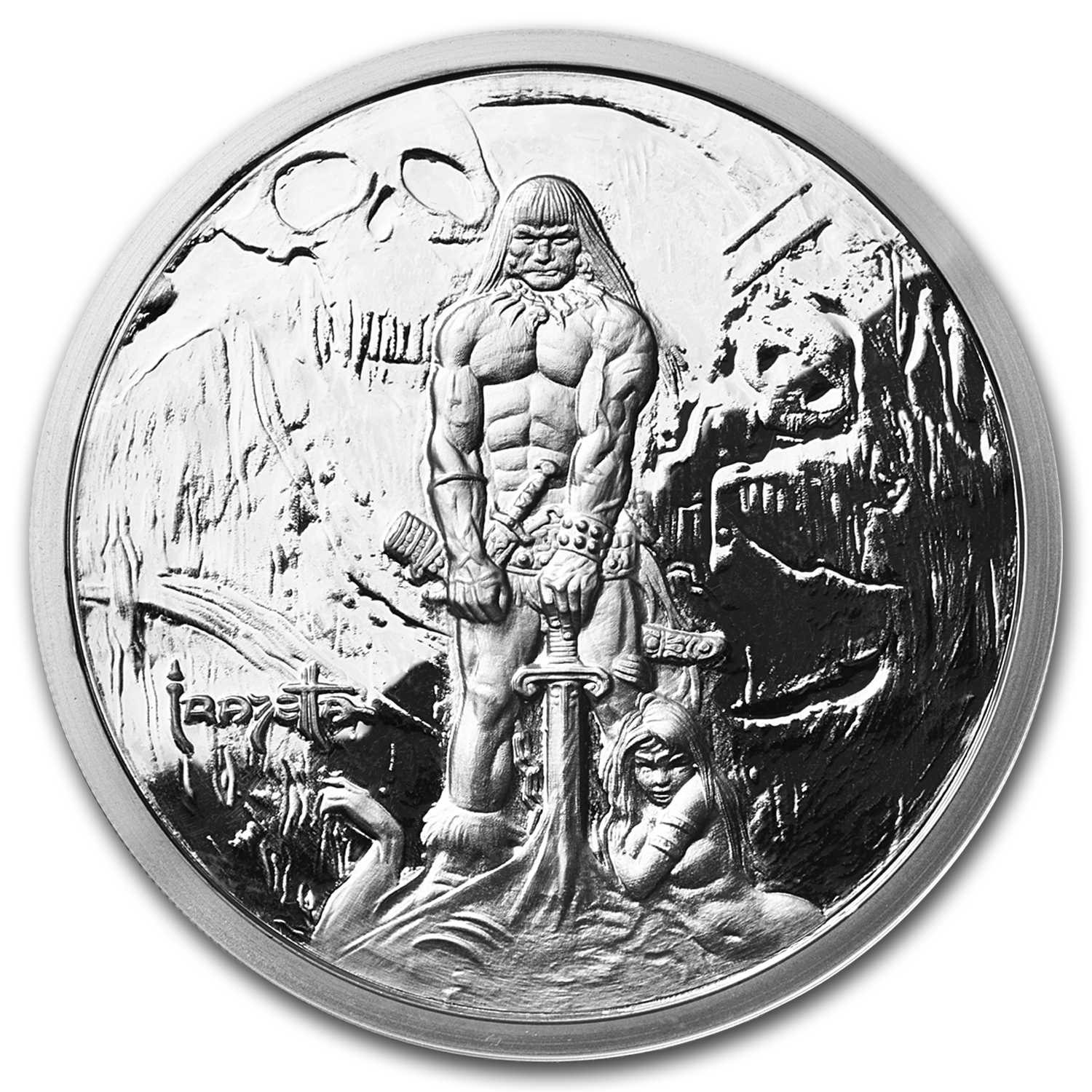5 oz Silver Proof Round - Frank Frazetta (The Barbarian)