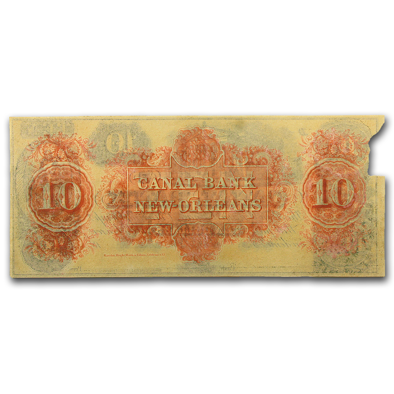 18__ Canal Bank of New Orleans $10 Note LA-105 Crisp Unc