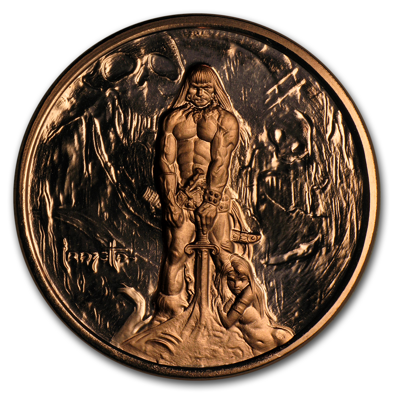 1 oz Copper Round - Frank Frazetta (Barbarian)
