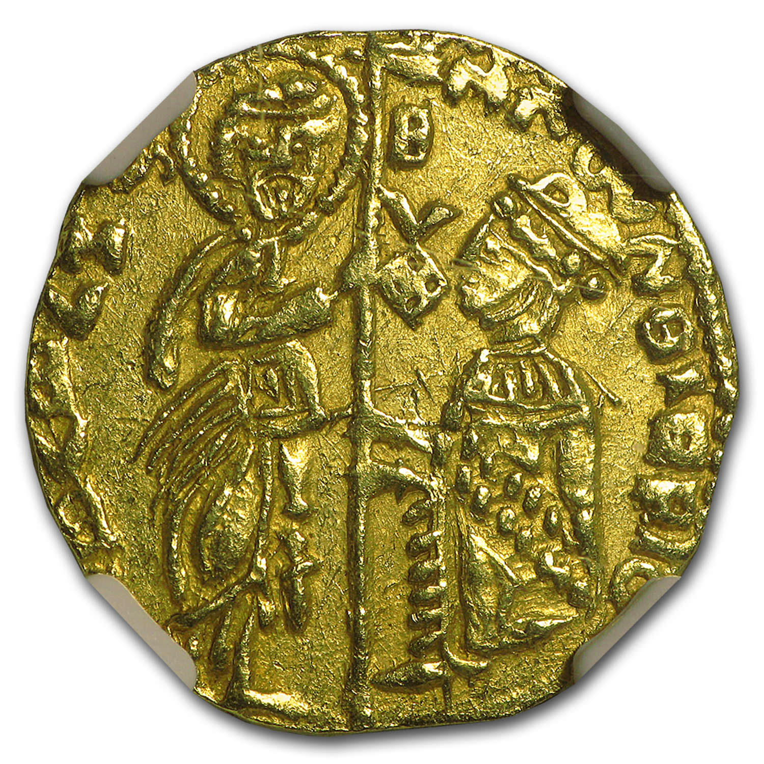 (1382-1400 AD) Greece Chios Gold Zecchino MS-62 NGC
