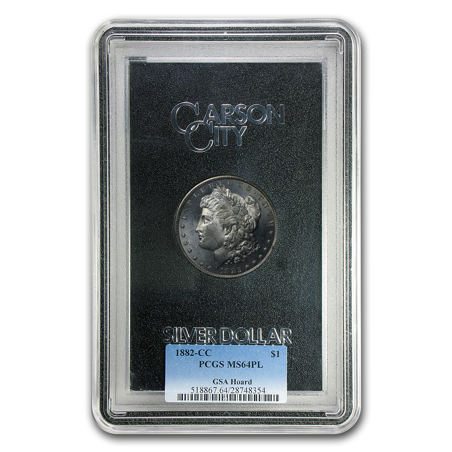 1882-CC Morgan Dollar MS-64 PL PCGS (GSA)
