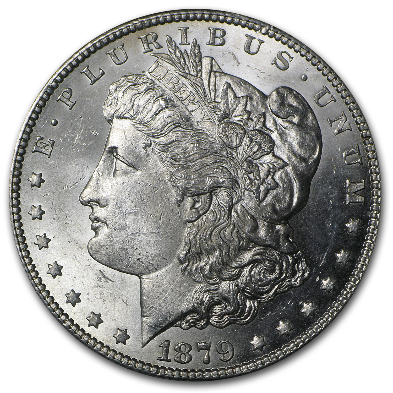 1879-S Morgan Dollar Rev of 78 BU
