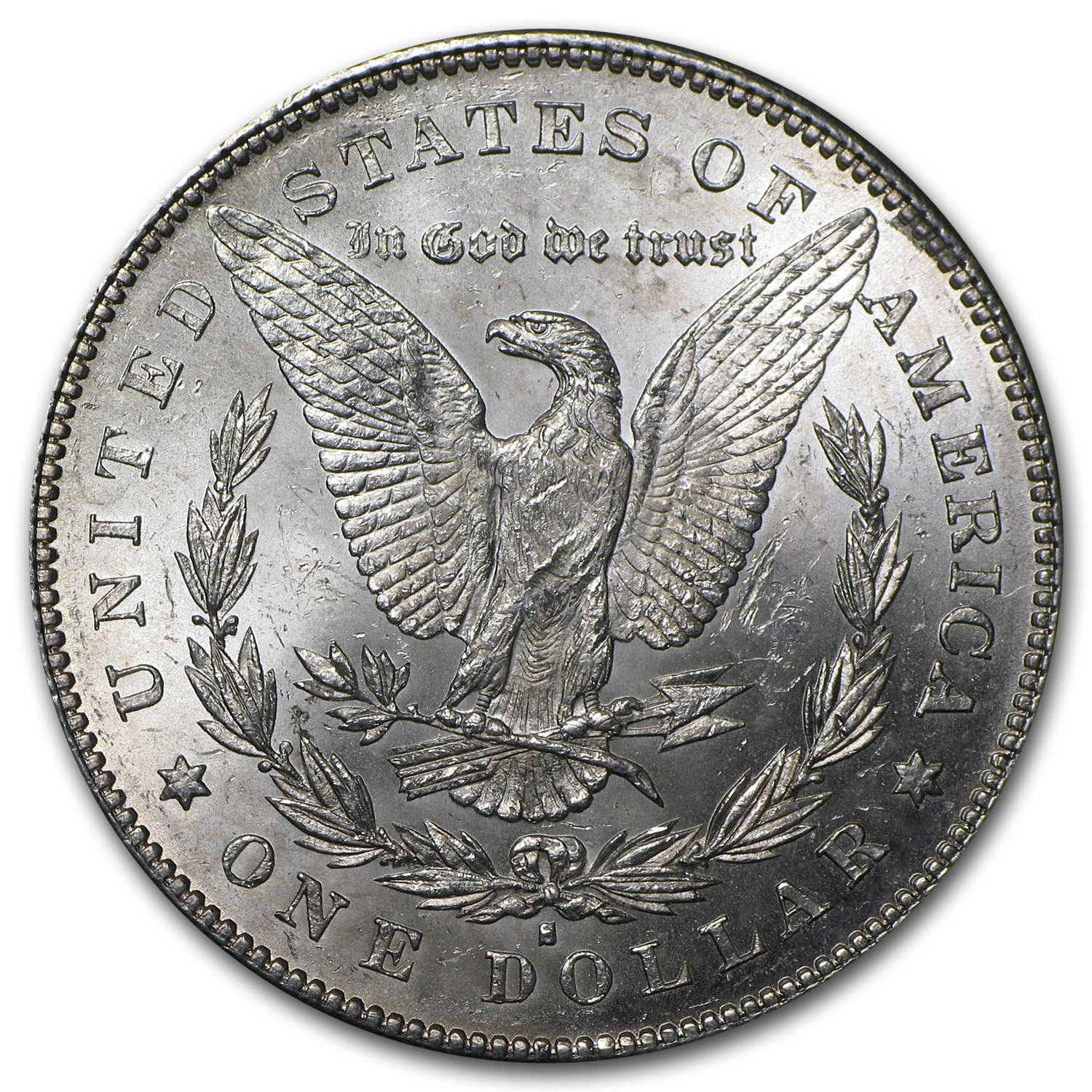 1879-S Morgan Dollar - Reverse of 1878 - Brilliant Uncirculated