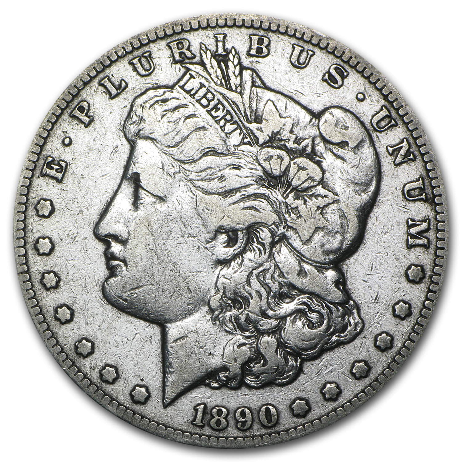 1890-CC Morgan Dollar VF