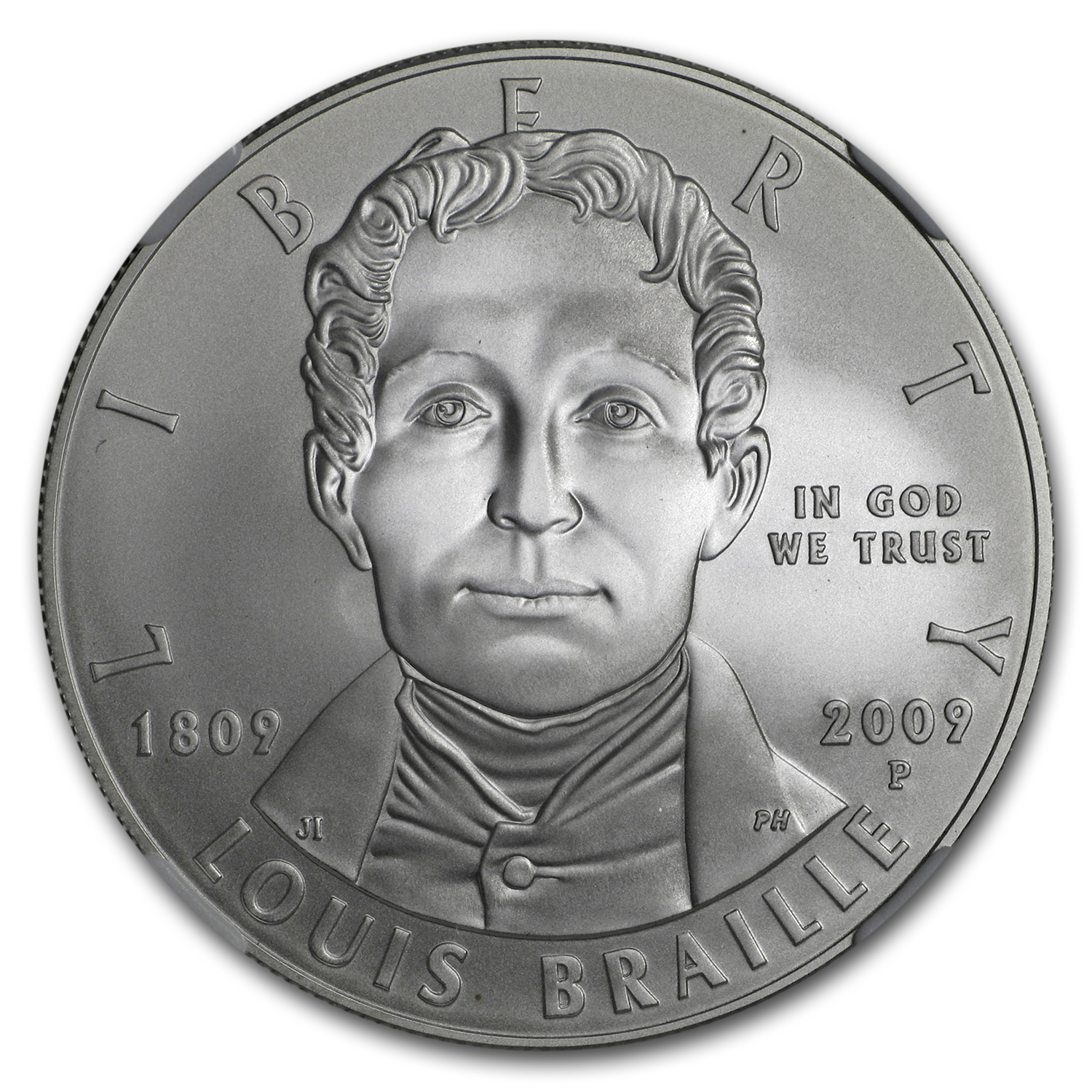 2009-P Louis Braille $1 Silver Commem PF-70 NGC
