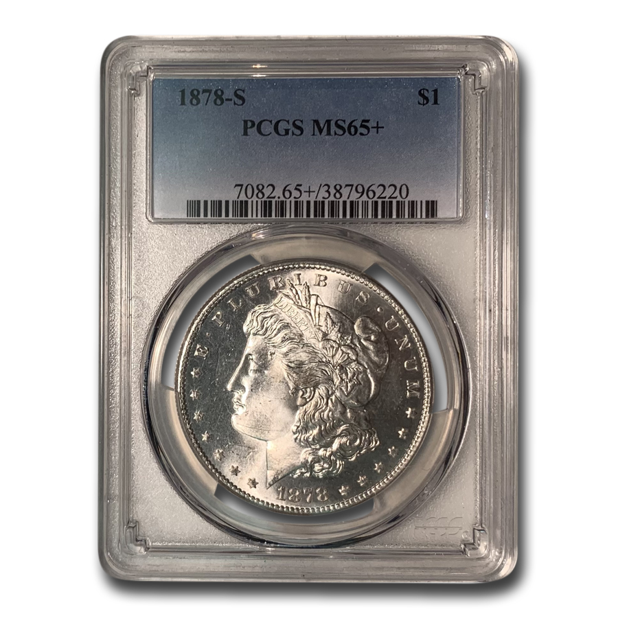 1878-S Morgan Dollar MS-65+ PCGS