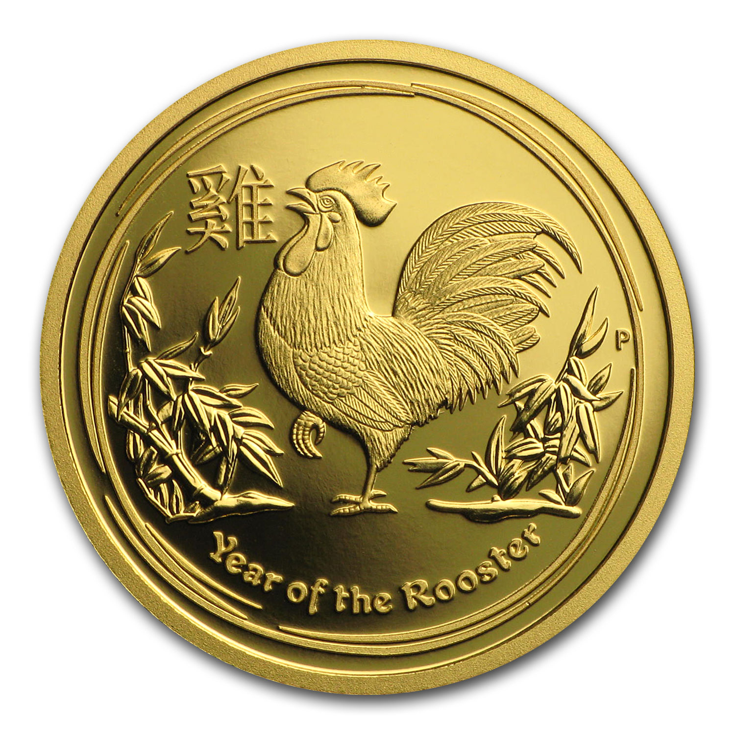 2017 Australia 1/10 oz Gold Lunar Rooster Proof (w/box & COA)