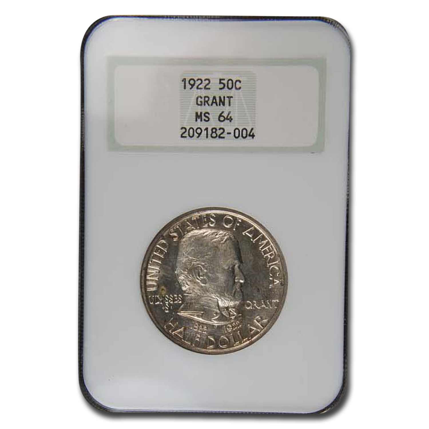1922 Grant Memorial Commemorative Half Dollar MS-64 NGC