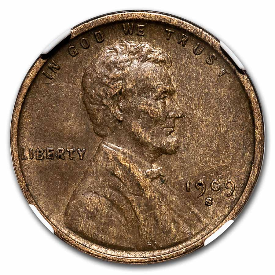 1909-S VDB Lincoln Cent XF-40 NGC