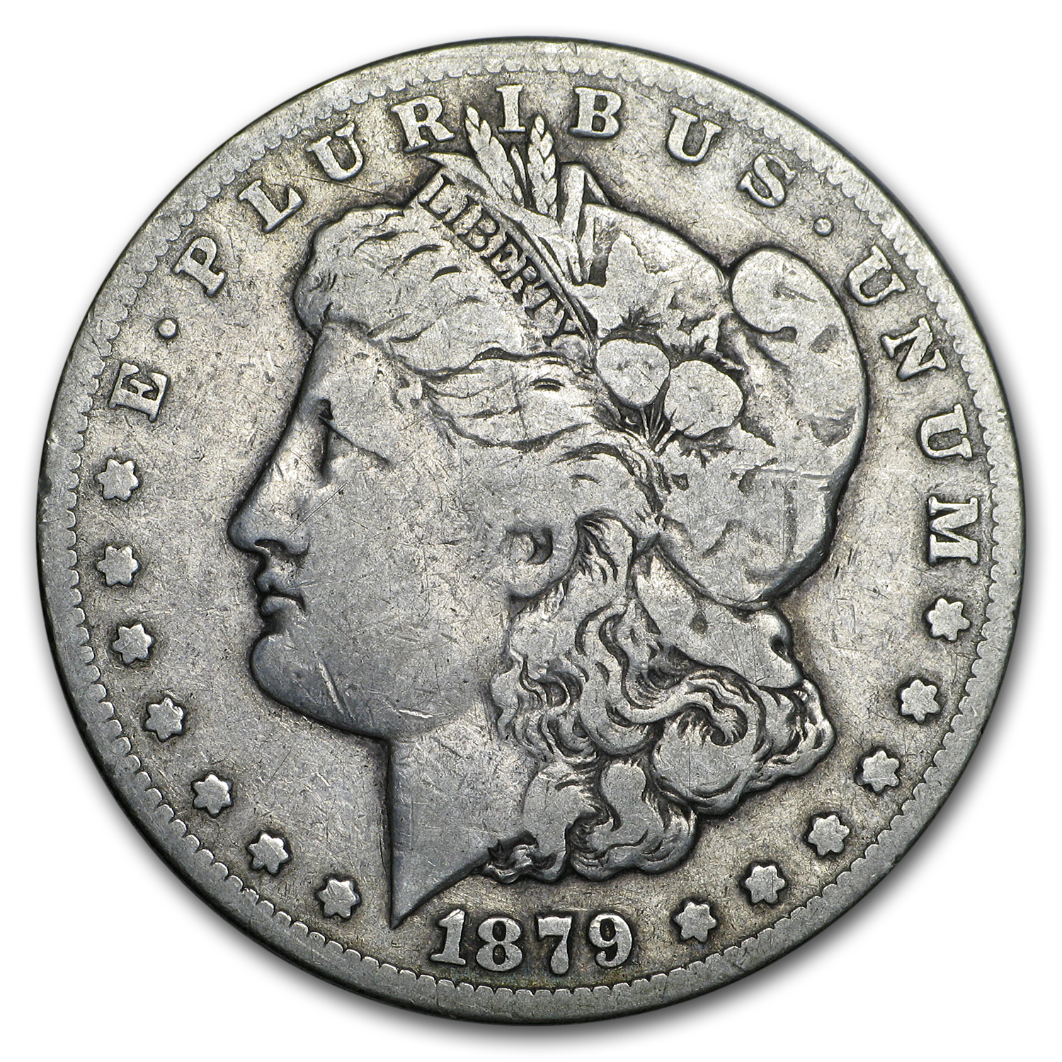 1879-CC Morgan Dollar Clear CC Fine