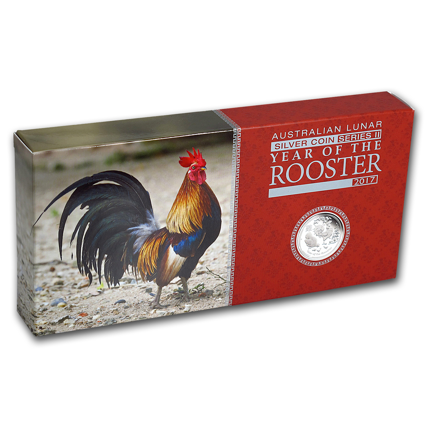 2017 Australia 3-Coin Silver Lunar Rooster Proof Set