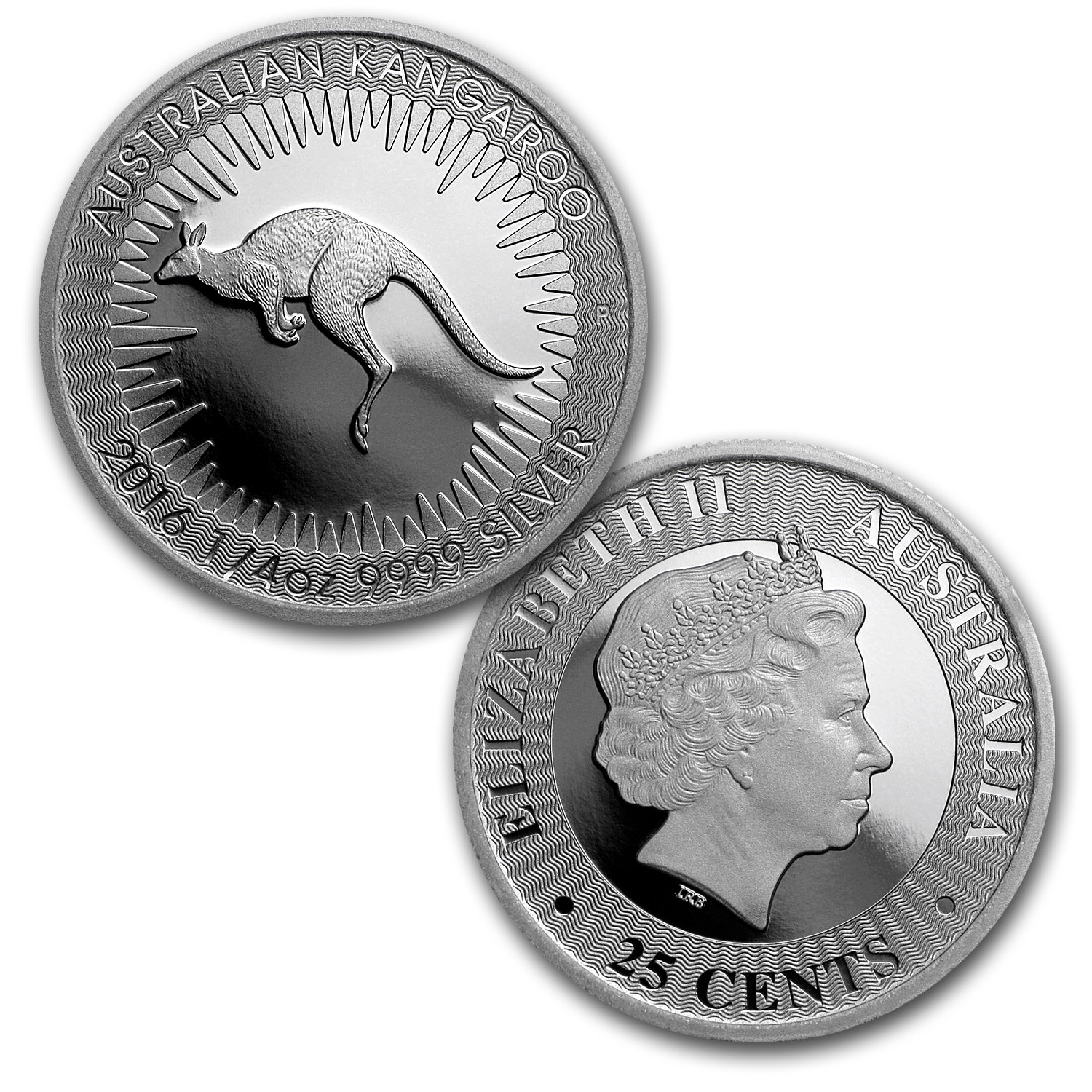 2016 Australia 4-Coin Proof Silver Kangaroo Set
