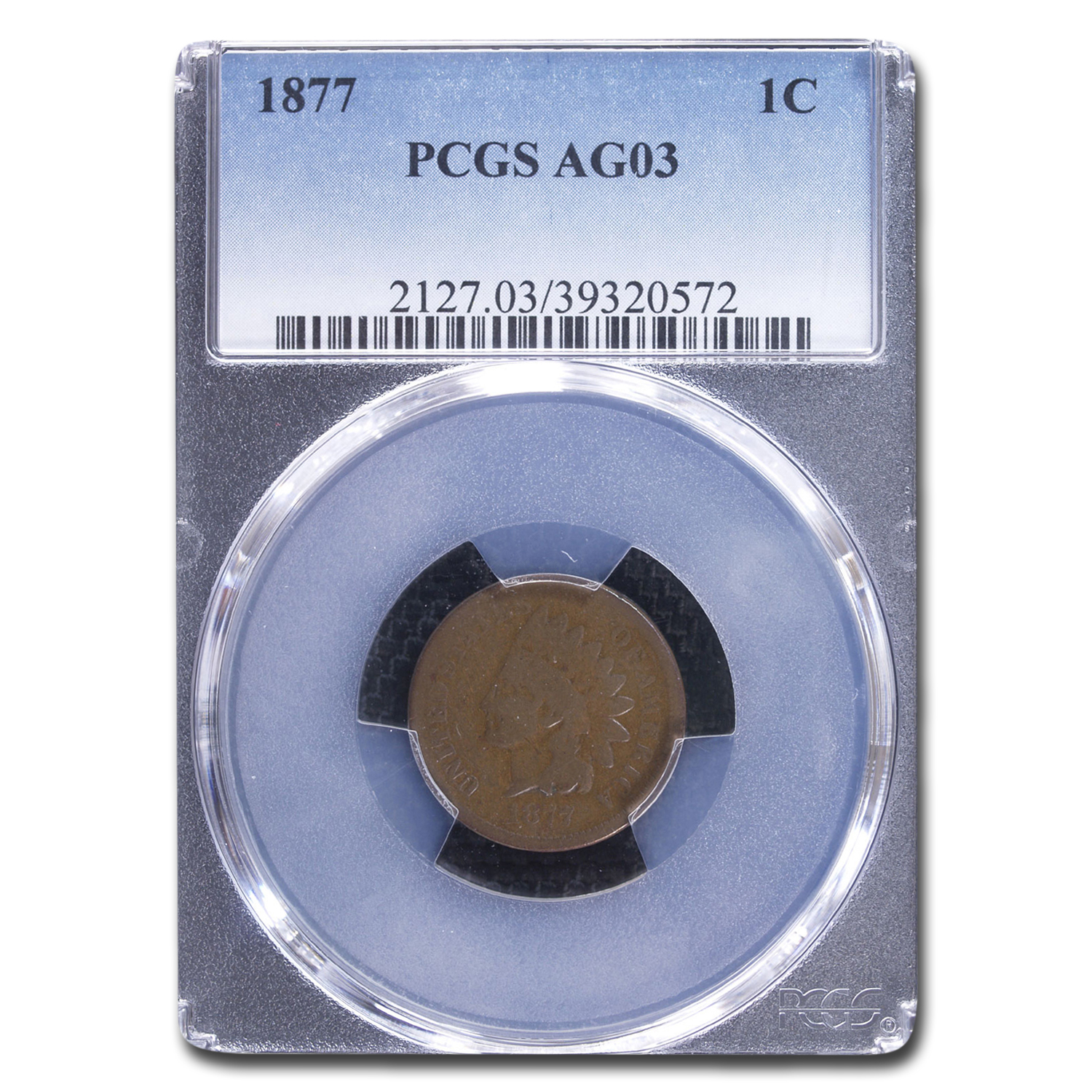 1877 Indian Head Cent AG-3 PCGS