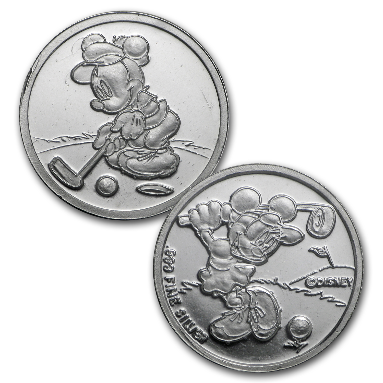 1/20 oz Silver Round - Disney (Mickey & Minnie)