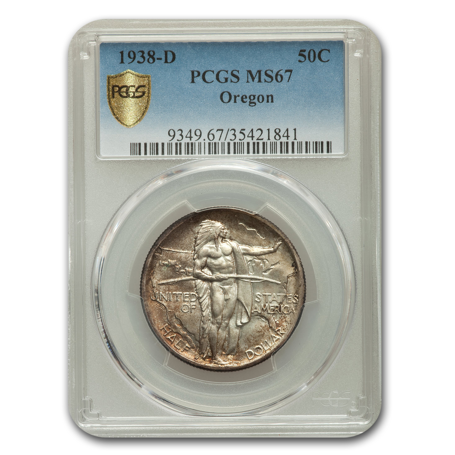 1938-D Oregon Half Dollar MS-67 PCGS