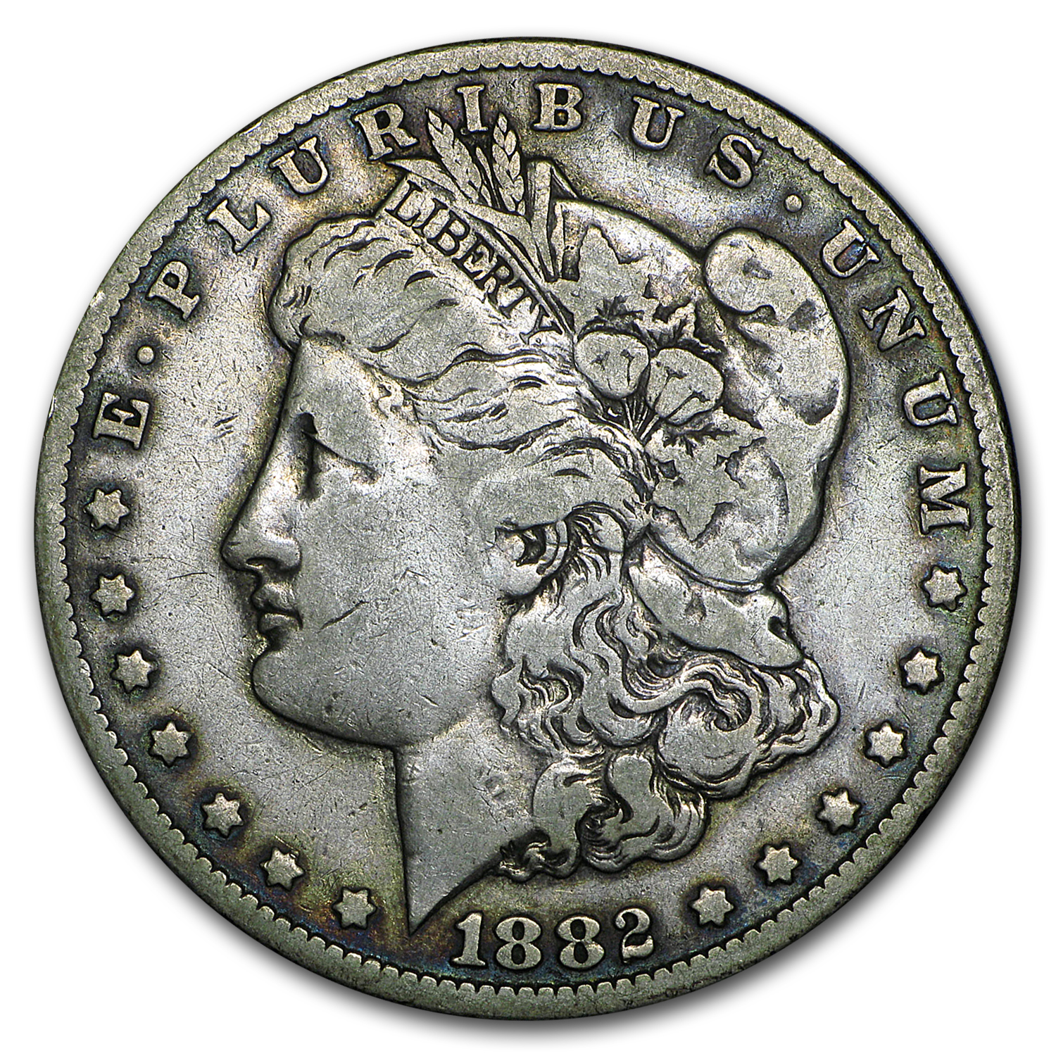 1882-CC Morgan Dollar Fine