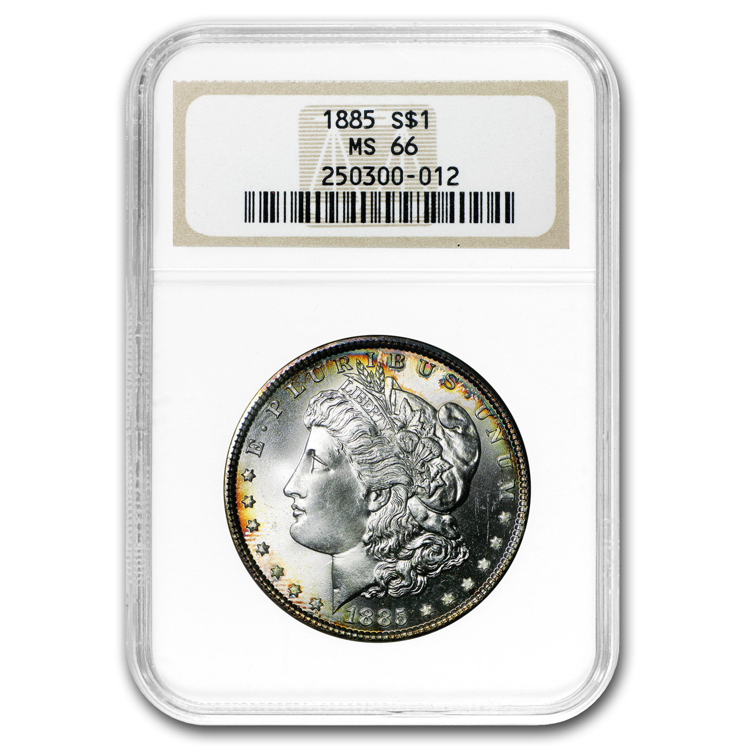 1885 Morgan Dollar MS-66 NGC (Toned)