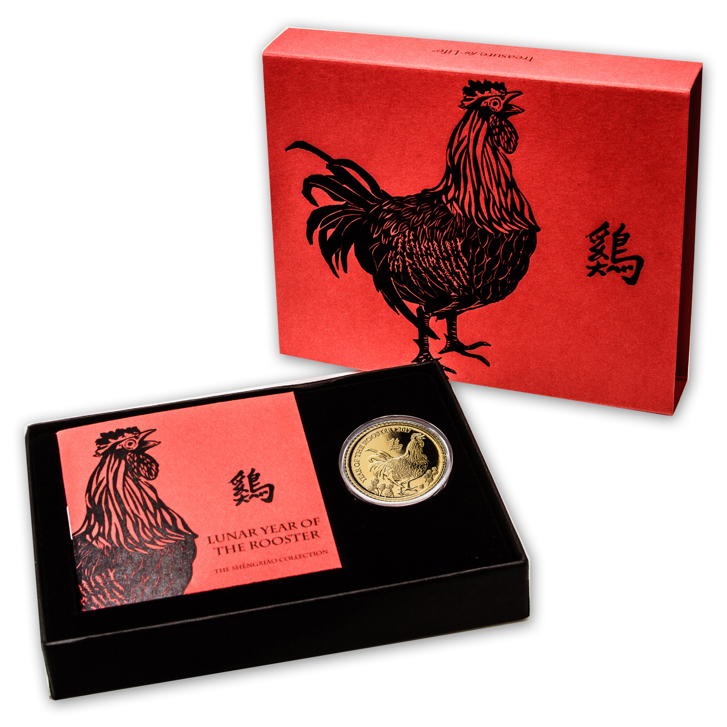 2017 GB 1/10 oz Gold Year of the Rooster BU (w/Box & COA)