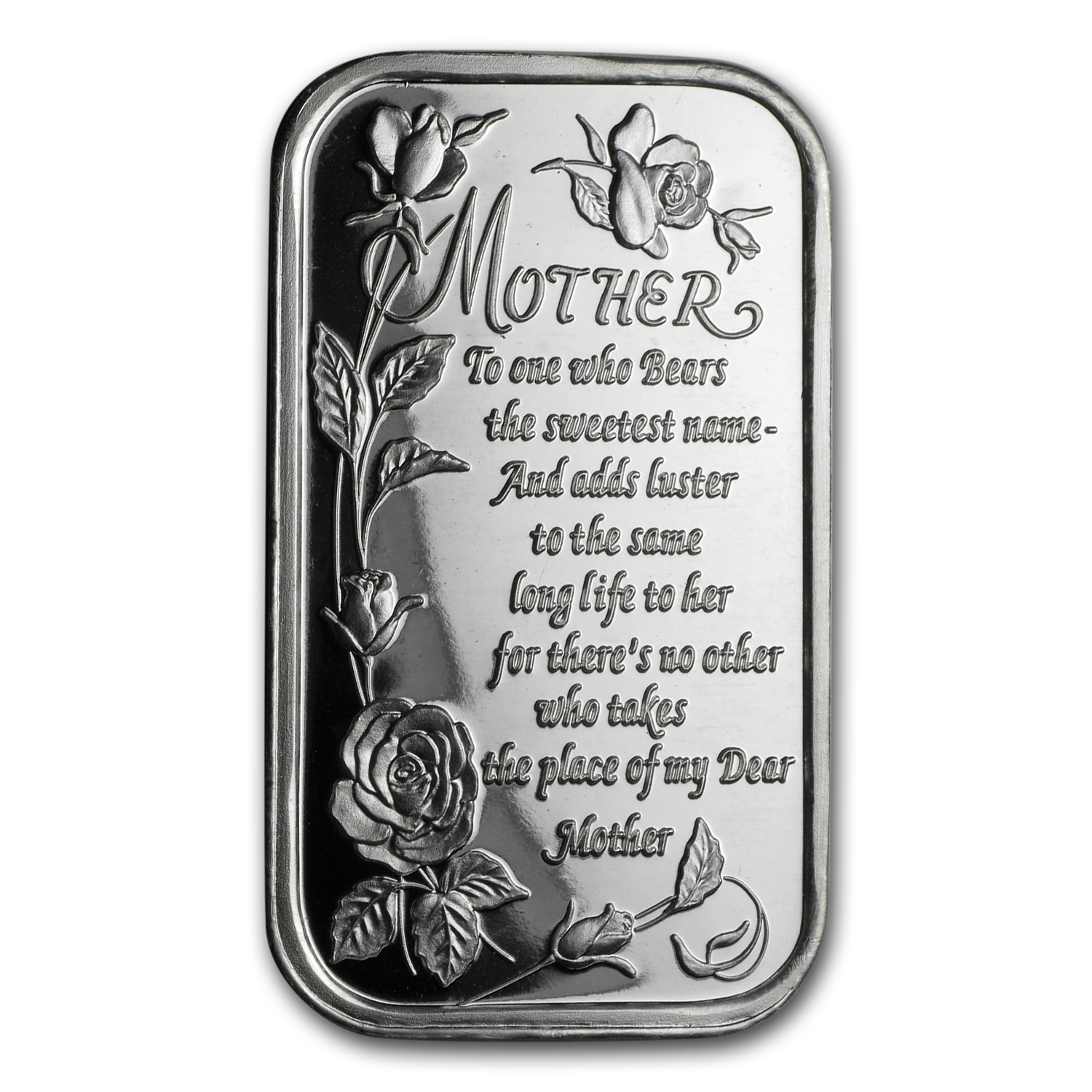 1 oz Silver Bar - Poem for Mother