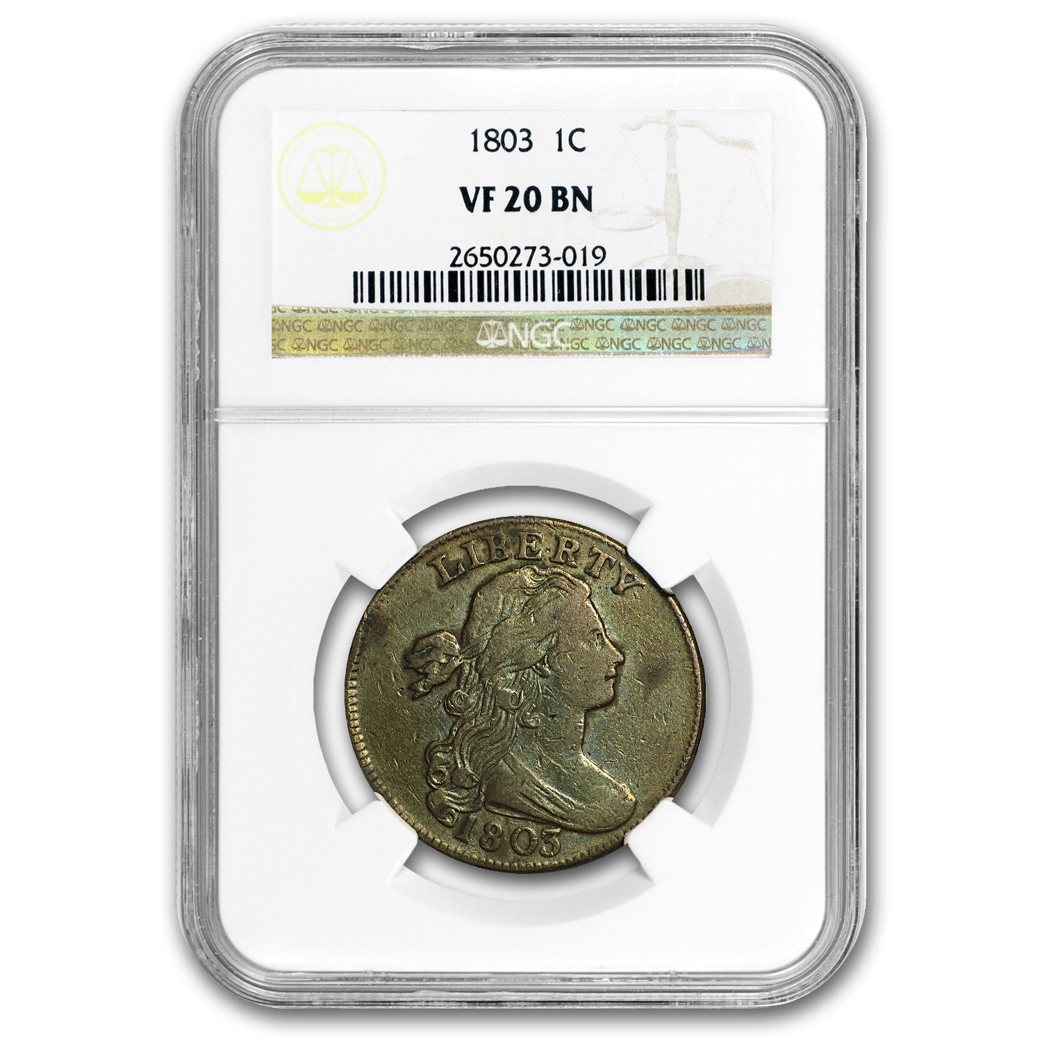 1803 Large Cent Sm Date/Lg Fraction VF-20 NGC