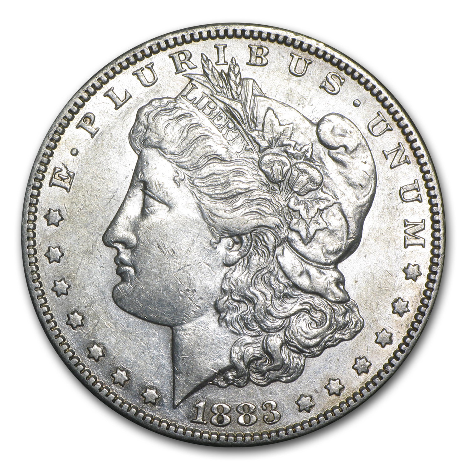 1883-S Morgan Dollar - Almost Uncirculated-50