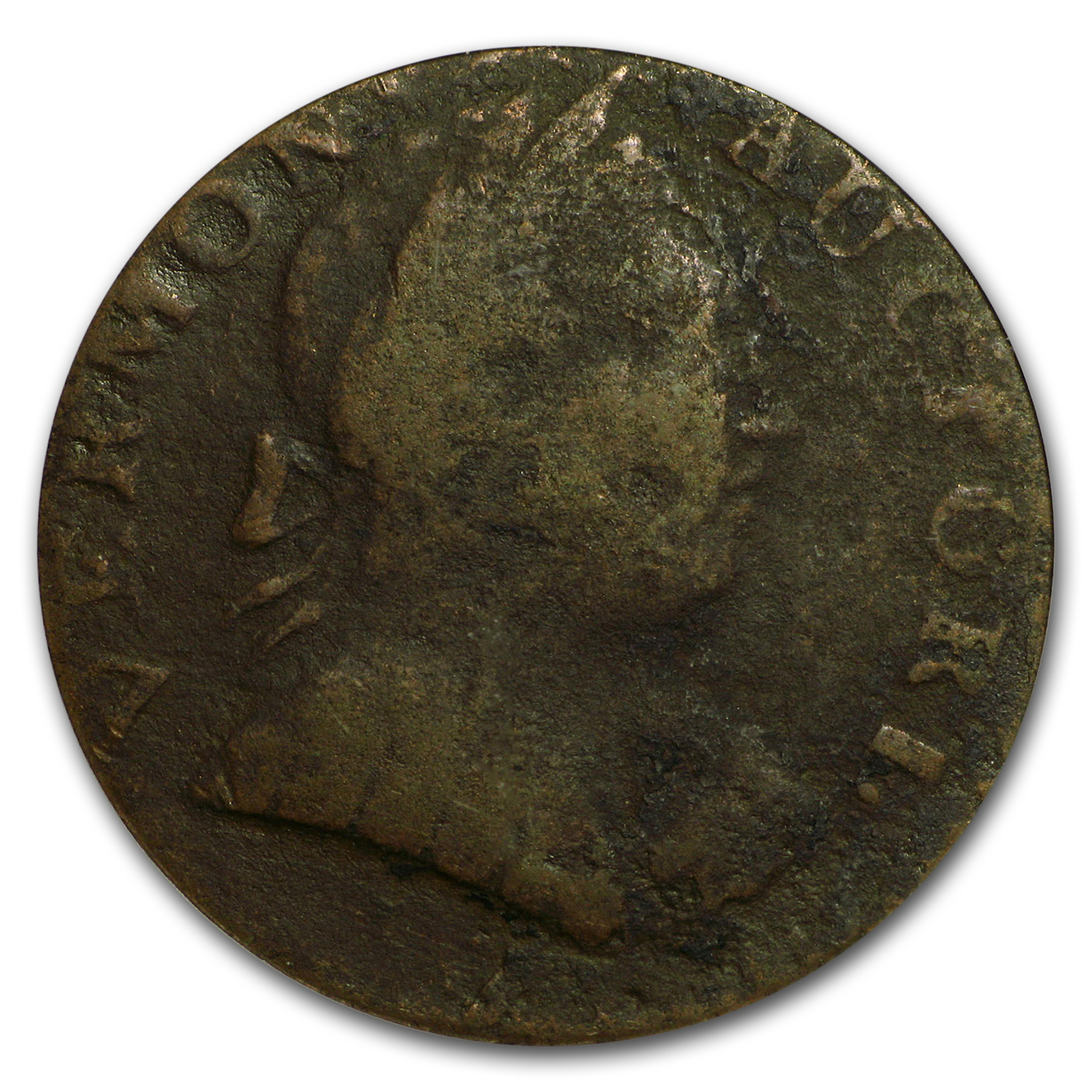1787 Vermont Copper Type Cent, Bust Right VG-8 PCGS