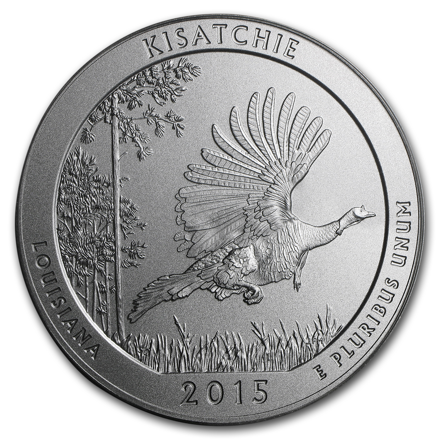2015-P 5 oz Silver ATB Kisatchie SP-70 PCGS (FS, Mercanti Label)