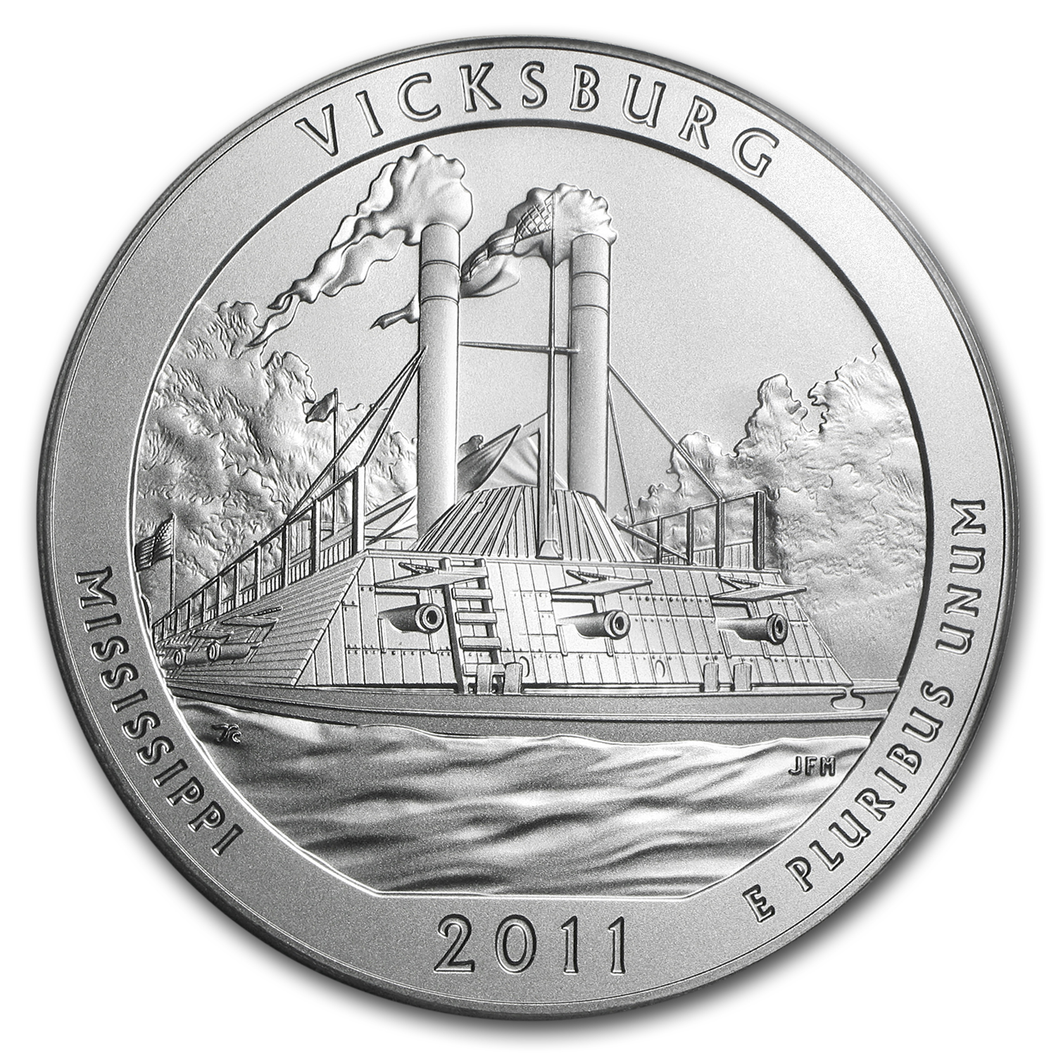 2011-P 5 oz Silver ATB Vicksburg SP-70 PCGS (Mercanti Label)