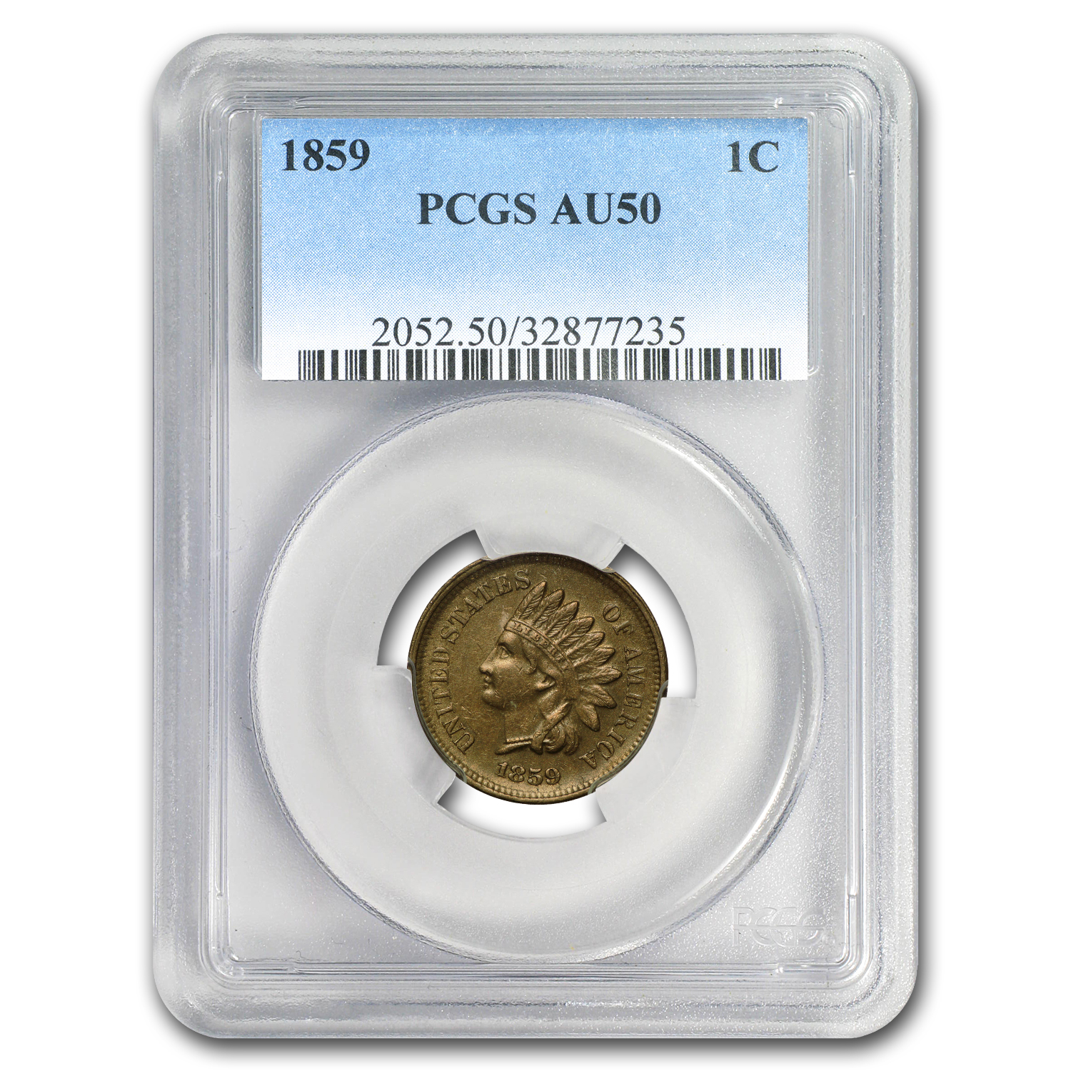 1859 Indian Head Cent AU-50 PCGS