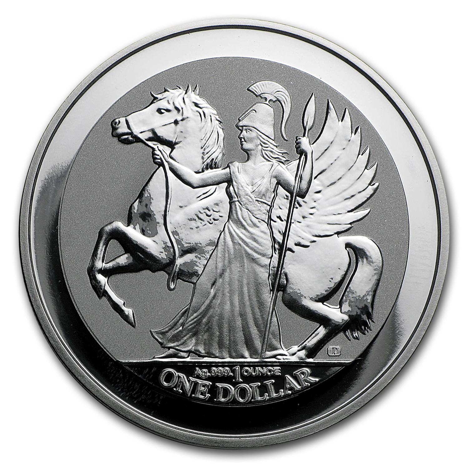 2017 British Virgin Islands 1 oz Silver Pegasus Reverse Proof