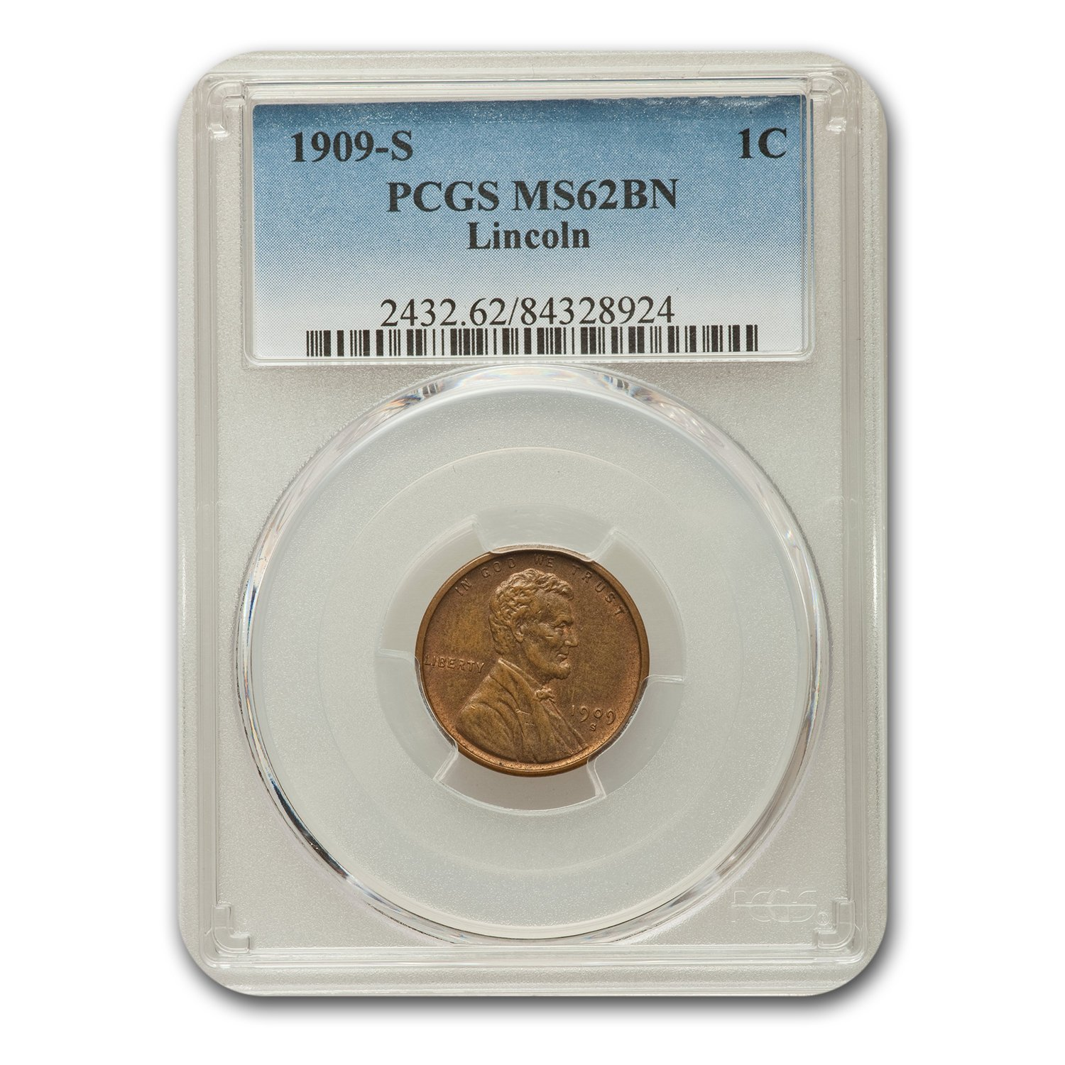 1909-S Lincoln Cent MS-62 PCGS (Brown)