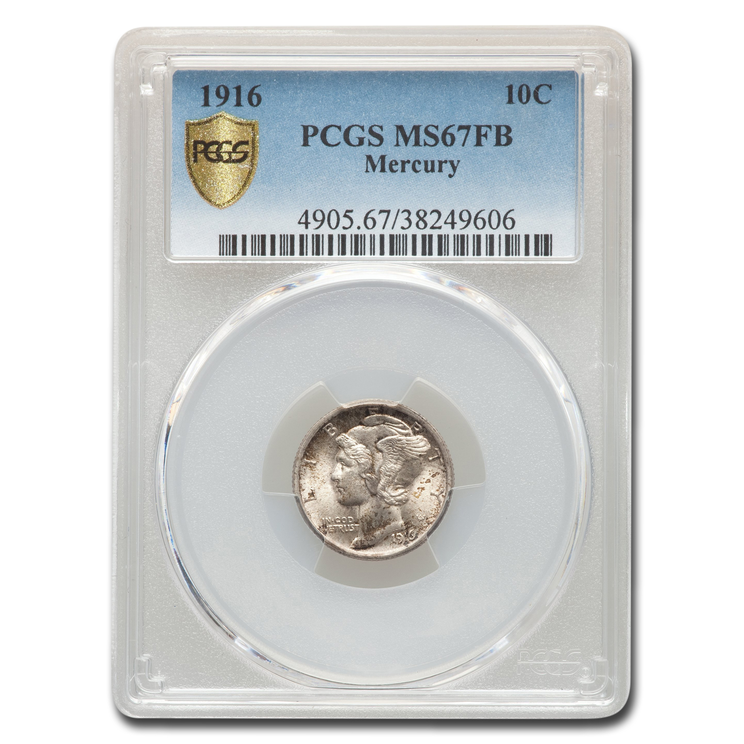 1916 Mercury Dime MS-67 PCGS (FB)