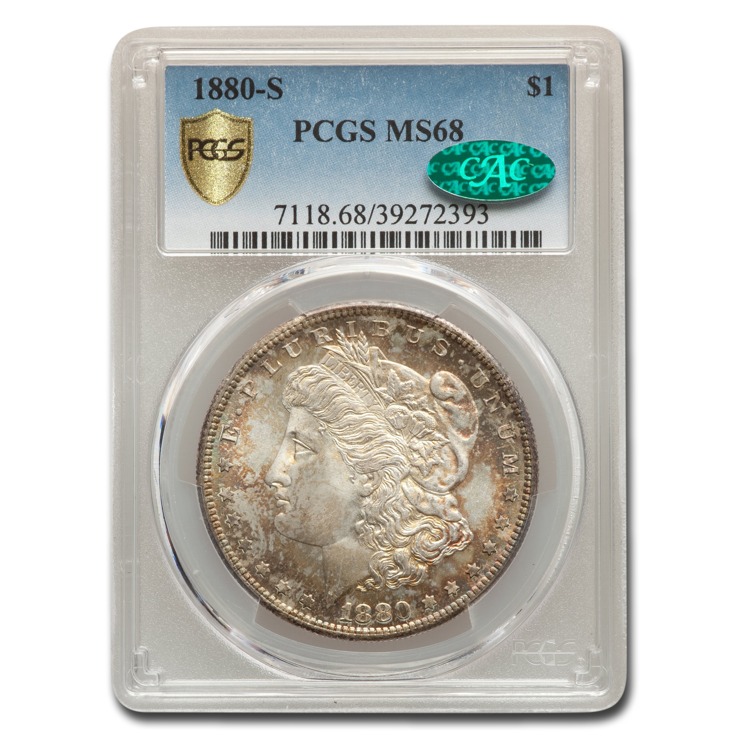 1880-S Morgan Dollar MS-68 PCGS (CAC)