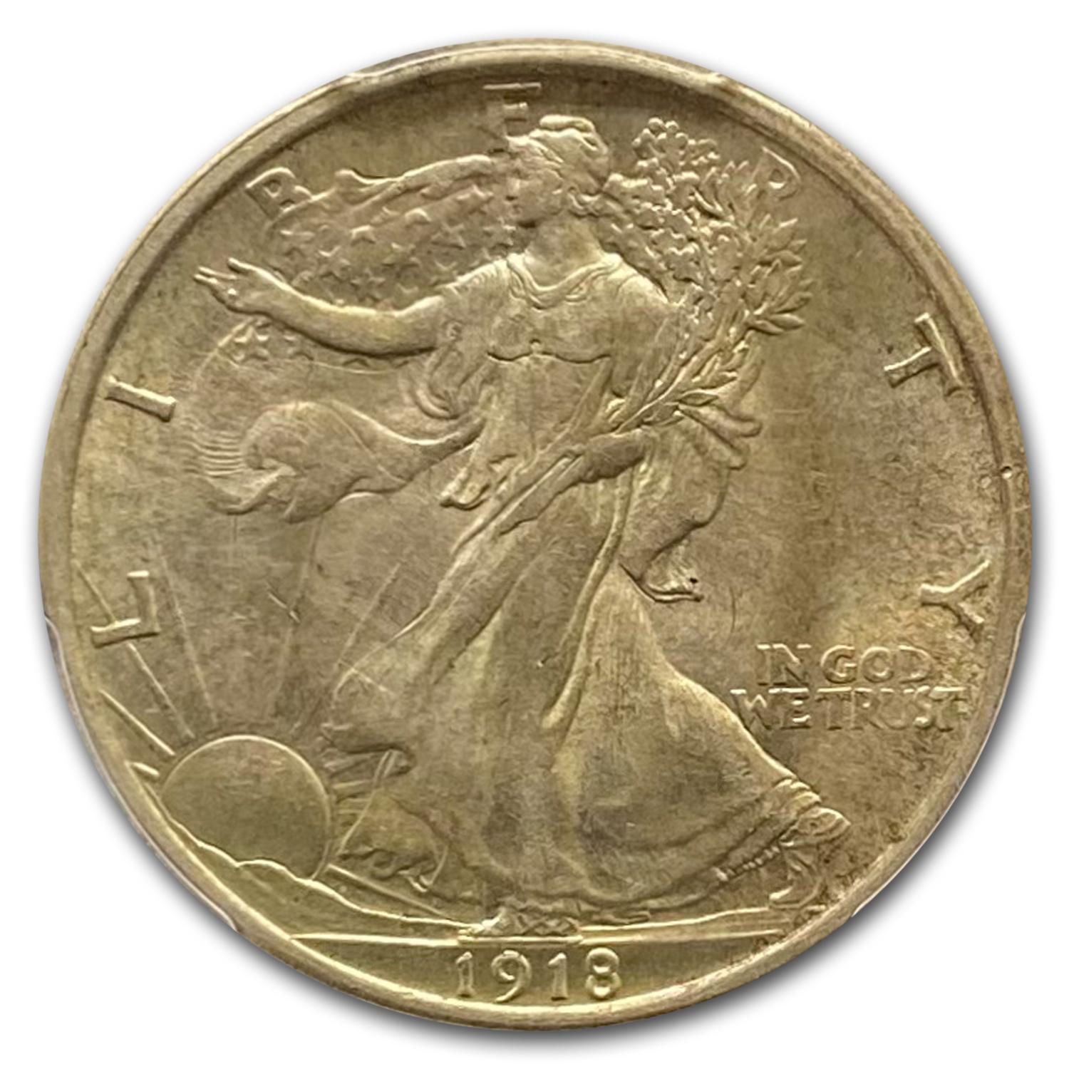 1918 Walking Liberty Half Dollar MS-63 PCGS