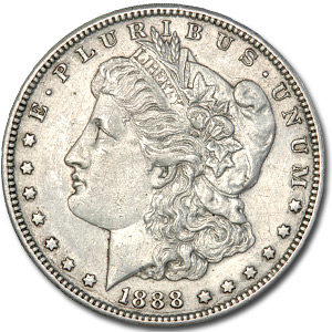 1888-S Morgan Dollar - Almost Uncirculated Details - Polished