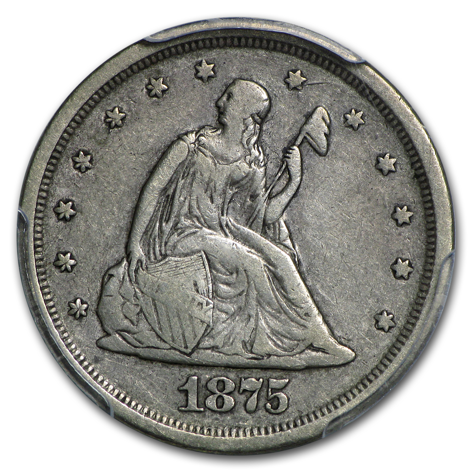 1875-S Twenty Cent Piece VF-25 PCGS