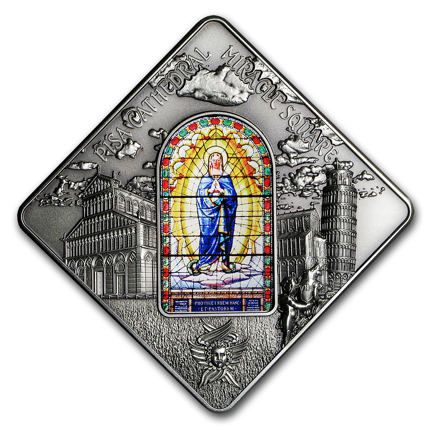 2016 Palau Silver $10 Sacred Art Stained Glass (Pisa Cathedral)