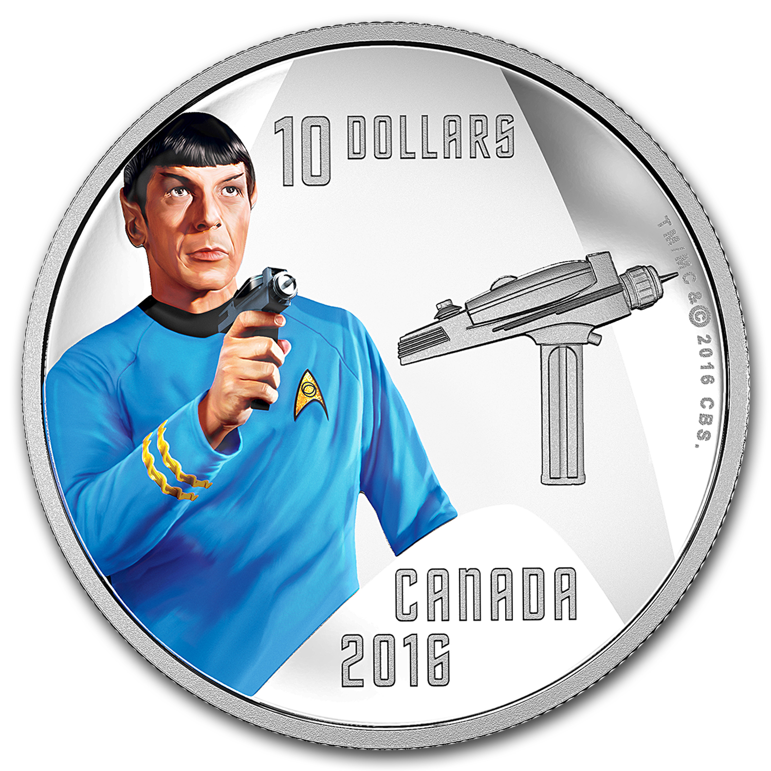2016 Canada 1/2 oz Silver Proof $10 Star Trek Spock