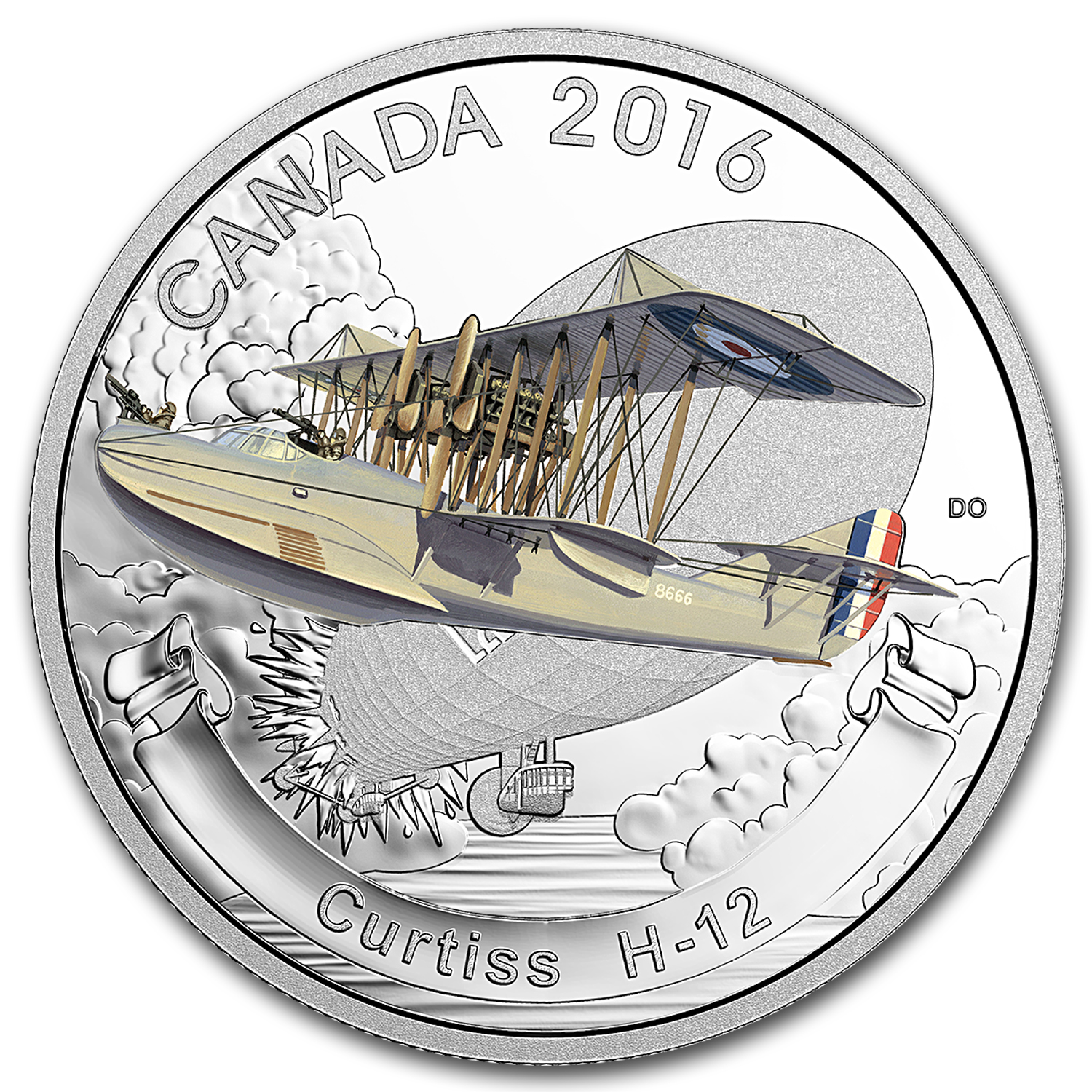 2016 Canada 1 oz Silver $20 Aircraft of WW1 Curtiss H-12